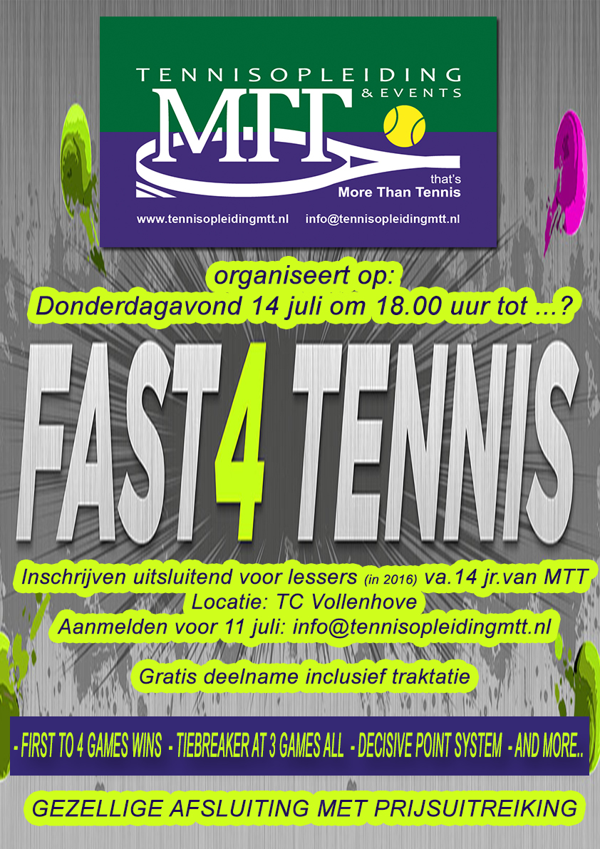Poster Fast 4Tennis