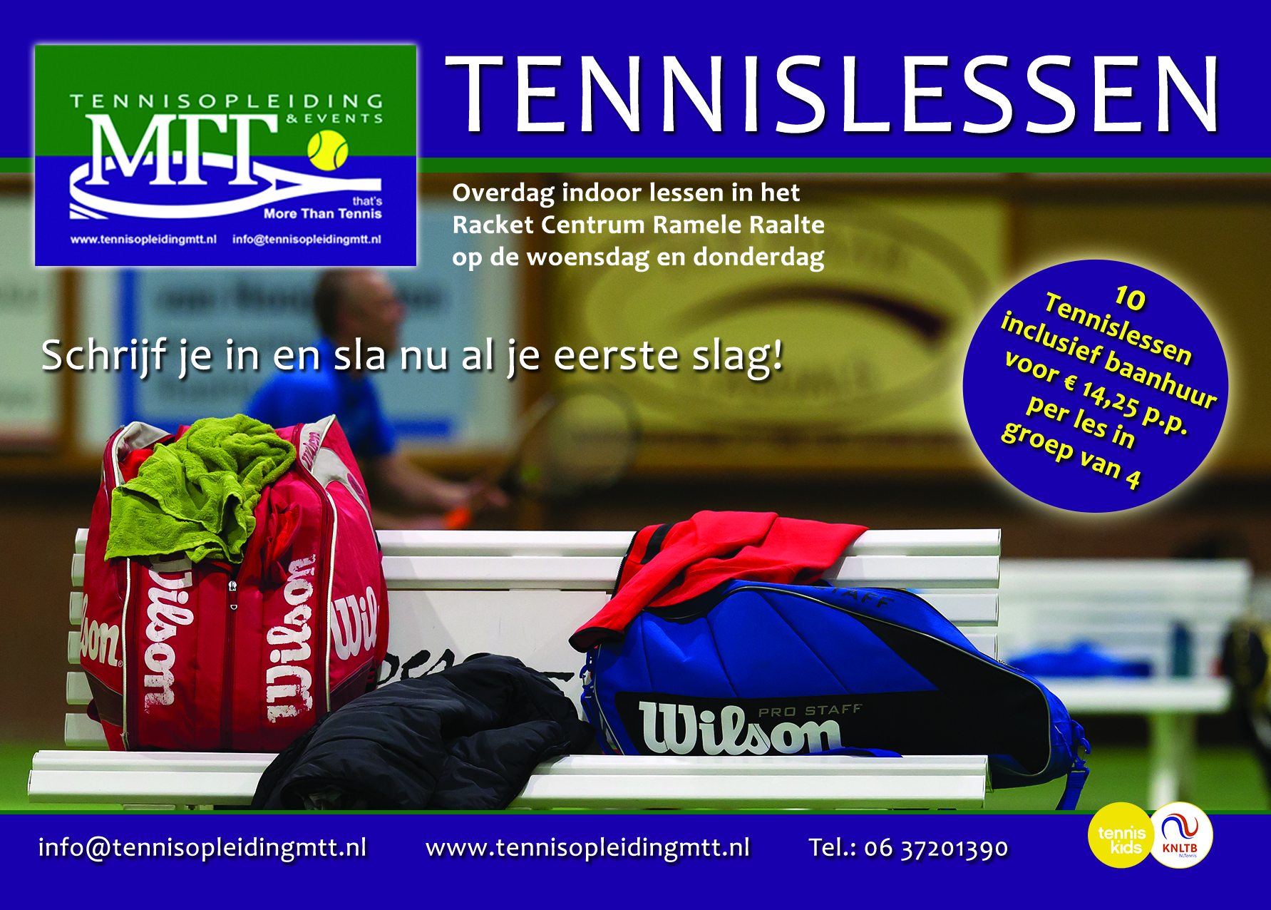 2016 Advertentie Indoor tennislessen Ramele